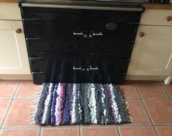 Hand woven shetland wool rug