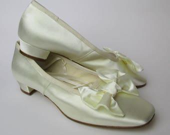 "Mod 745-T25 ""Slippers""  19 century shoes - scarpa ottocento donna raso avorio"