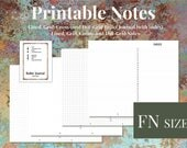 Fieldnotes / Pocket Notes and Bullet Journal inserts,  Lined, Grid, Cross- and Dot-Grid, Printable