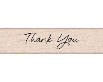 """Hero Arts Mounted Rubber Stamp .5""""X3"""" - Thank You Stamp"""