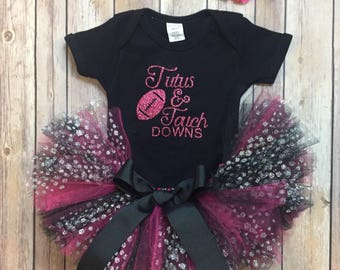 Hot pink Tutus and touch down tutu outfit