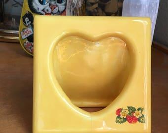 Vintage Ceramic Heart Shaped Picture Frame