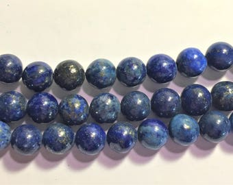 "15"" Strand Dyed Lapis Lazuli Gemstone 8mm Round Beads"