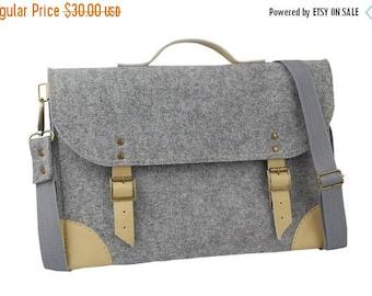 Christmasinjuly Macbook Pro 13 inch bag, Felt Laptop bag 13 inch with pocket , sleeve, Laptop case with belt shoulder