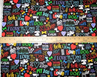 Dog Lover Cotton Fabric by Timeless Treasures! 2 Options [Choose Your Cut Size]
