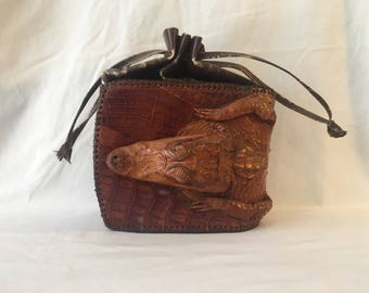 FLASH SALE Vintage 1960's Alligator Purse