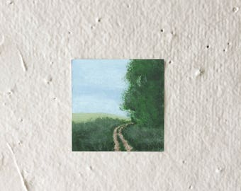 Dirt Road - Tiny Art Print!