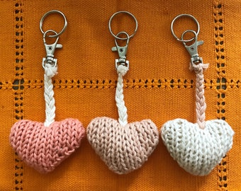 Knitted Heart Keychain