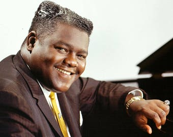 Publicity photo of Fats Domino from the 1950's
