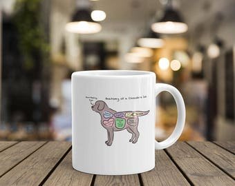 Anatomy of a Chocolate Lab - Funny Labrador Retriever Mug
