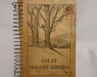 Vintage Cookbook OutOf Vermont Kitchens Recipe Book. Recipe Book