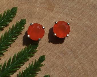 Reserved, Carnelian Sterling Silver Earrings