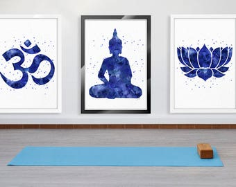Yoga Wall Art yoga wall art | etsy
