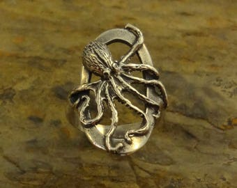 Realistic Octopus Ring Handmade in the Pacific NW