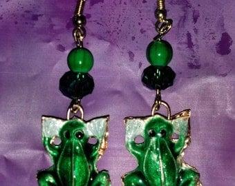 Frog Cloisonne Earrings