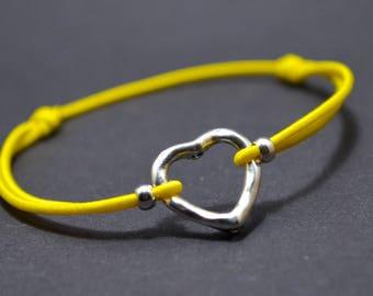 Bracelet yellow heart