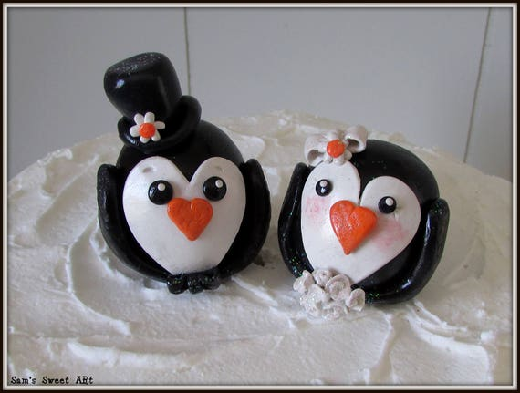 penguin wedding cake topper penguin wedding cake topper penguins cake topper penguin 18187