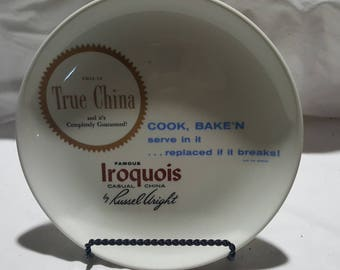 Russel Wright Iroquois Casual ADVERTISING Plate