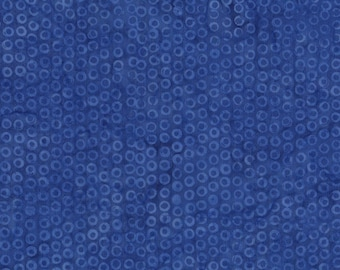Island Batik Blue Ocean Cheerio Dot Ring Batik Fabric BE21-D1 BTY