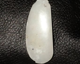RESERVED ON LAYAWAY 3rd Payment - White Nephrite Jade Antique Pod River Pebble Carving 1800s 34.6 Grams