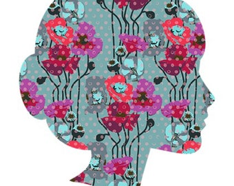 Poppies/ Lucy and Mabs Reusable pad or pantyliner / Made to Order