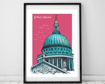 St Pauls Cathedral, London Print
