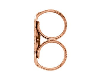 Pair of 14k Rose Gold Friction Backs LIGHTWEIGHT,  Earring Finding -- ready to ship ---
