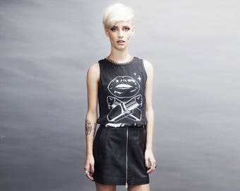 Women black top, Unicorn shirt, rock tshirt, rock t shirt