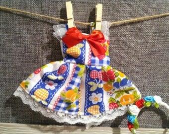 Yo sd fruits and flowers dress