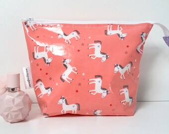 MADE TO ORDER Limited Edition Unicorns wipe clean wash bag