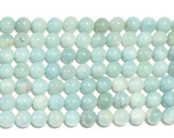 10 x 4mm Amazonite round beads
