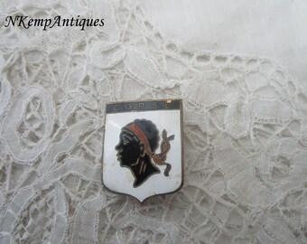 Old enamel brooch