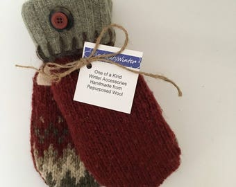 Wool Mittens, Valentines Day Gift, Sweater Mittens, Mittens from Sweaters, Warm Mittens, Winter Mittens, Winter Gloves, Gift for Her,