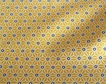 Coated fabric 50 x 70 cm yellow graphic