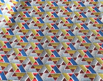 Fabric coupon 50 x 70 cm Blue wax