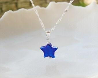 Petite Murano Glass Star Necklace
