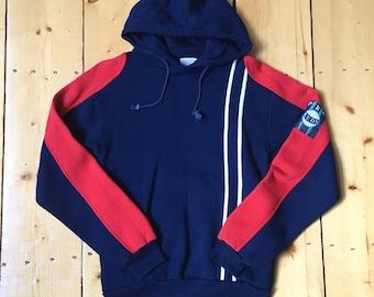 Vintage 1980s Pro Keds Sneakers Volleyball Hoodie Hooded Sweatshirt - Small/Medium