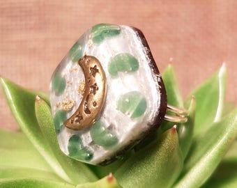 Aventurine Orgone Ring – Energy Balancing and EMF Protection - Root Chakra Balancing - Spiritual Gift - Small Square