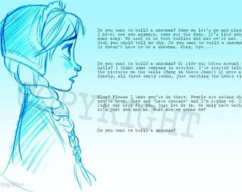 Frozen 'Do you want to build a snowman?' print