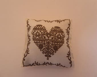 Miniature cushion for the 1/12th scale dolls house or Christmas scene
