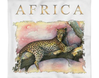 Square Pillow Case only - Wild Africa art print
