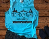 Disney The Mountains Are Calling - Disney Shirts - Disney Shirt - Family Vacation - Disney Family - Disney Group Shirts -Comfort Colors Tank