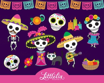 Day of the dead clipart - Dia de los Muertos clipart - 17042