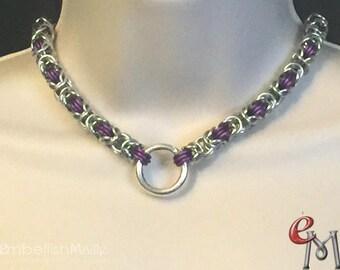 Submissive Collar / Slave Collar. BDSM Day Collar, Discrete Day Collar,  BDSM LIfestyle jewelry Discreet Pet Collar, Byzantine Weave
