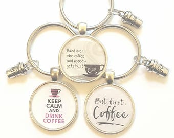 Coffee Keychain  Coffee Lover GIft