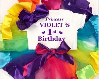 Birthday tutu cake smash outfit 1st 2nd Birthday princess