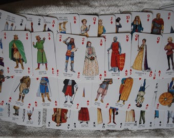 Kings & Queens of England playing card game , 1992 heritage company