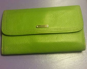 Vintage lime green Dockers trifold ladies wallet.