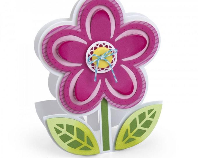 New! Sizzix Framelits Die Set 10PK - Flower Fold-its by Stephanie Barnard 662260