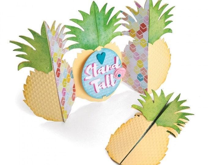 Will ship March 20th - Sizzix Tim Holtz Thinlits Die Set 10PK - Card, Pineapple Fold-a-Long by Jen Long 662727